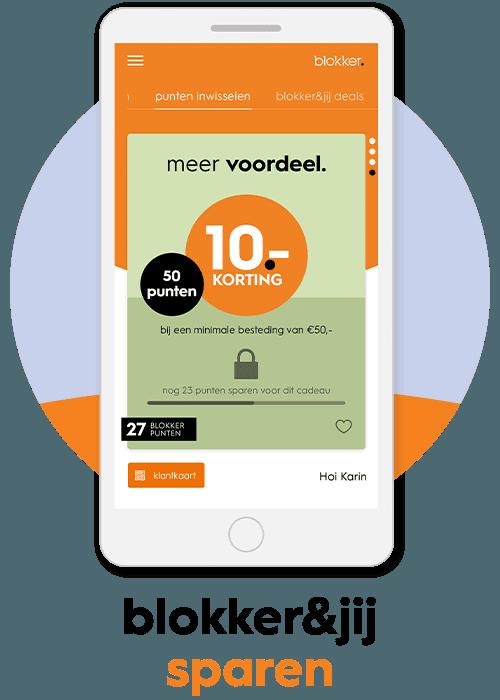 blokker app sparen voor korting